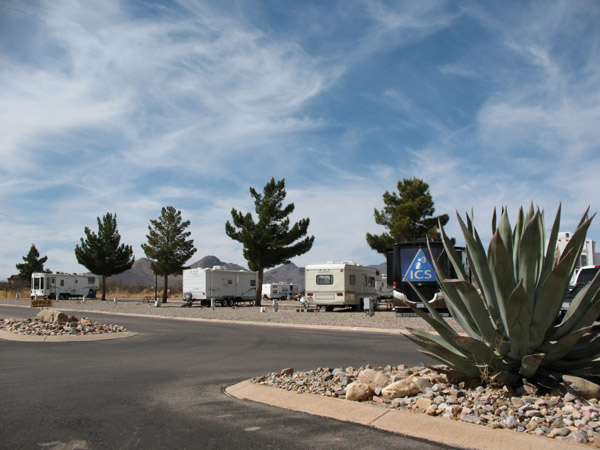 RVs parked in a beautiful desert setting in Arizona.