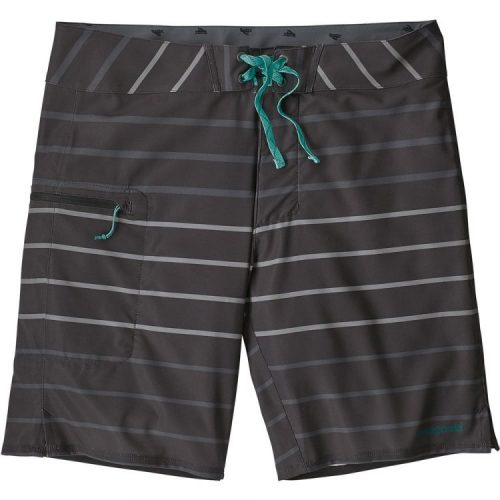 Black gray and teal mens board shorts
