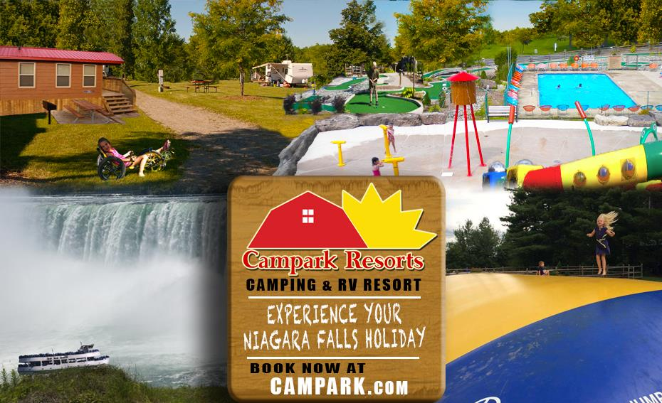 Multi window campark resort advertisement