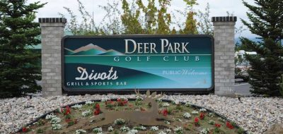 Front entrance sign for golf course