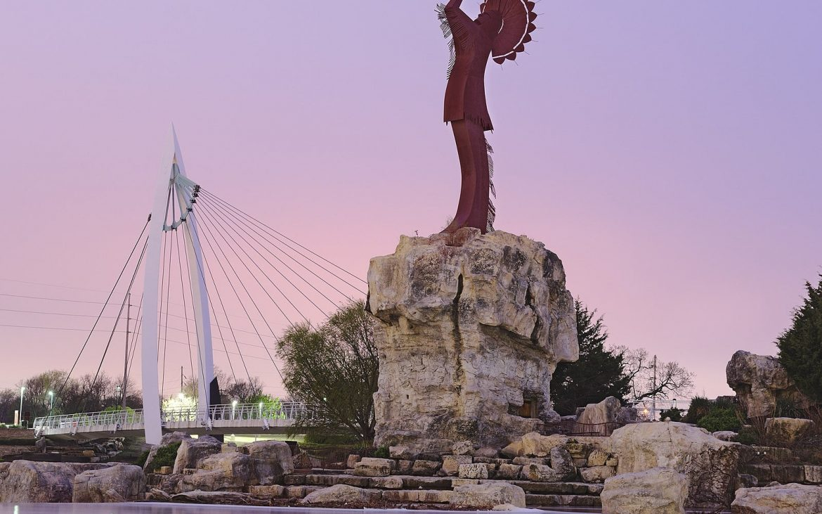 Keeper of the Plains sculpture in Wichita, KS