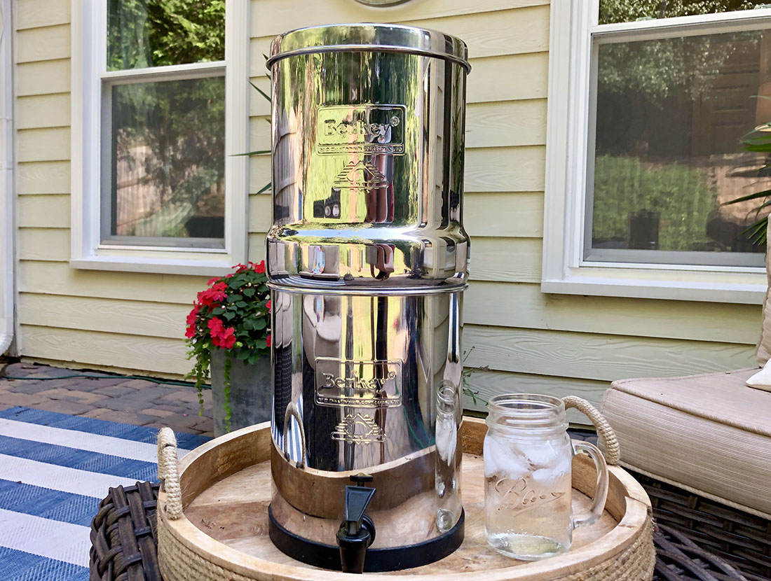 The Travel Berkey is the perfect size to use in an RV. We don't leave home without it.