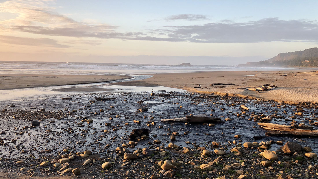 Beverly State Beach along the Oregon coast is a popular campground steps from Spencer Creek and the Pacific Ocean.