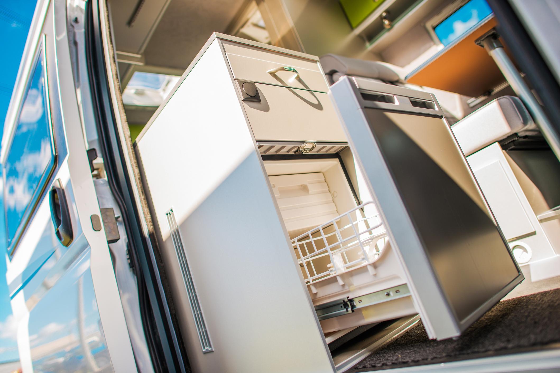 Modern Camper Van 12V Refrigerator