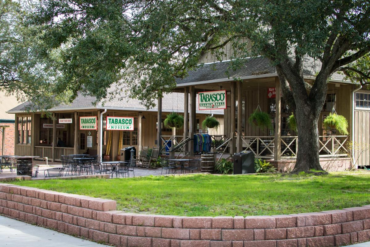 Buy a bottle of your favorite hot sauce flavor at the Tabasco store on Avery Island.