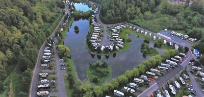 Aerial view of Lake Pleasant RV park in Seattle