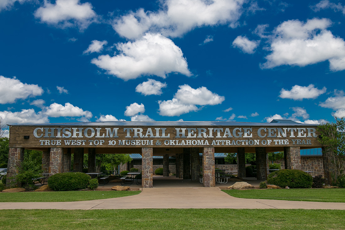 Experience the Old West in the Chisholm Trail Heritage Center.