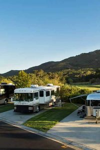 RVs bask in the setting sun in Temecula. Photo: Pechanga RV Resort.