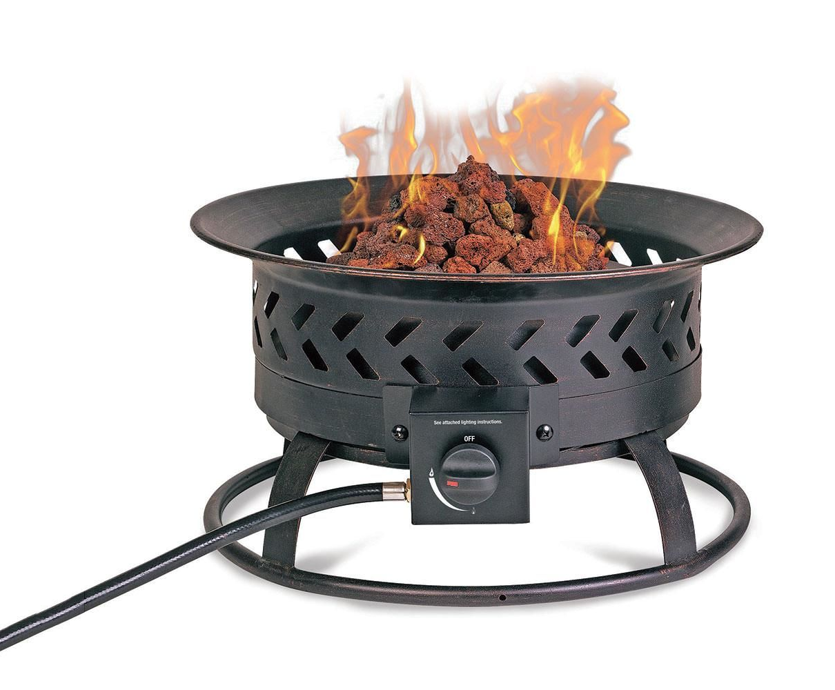 A small fire bowl provides ample space heating.