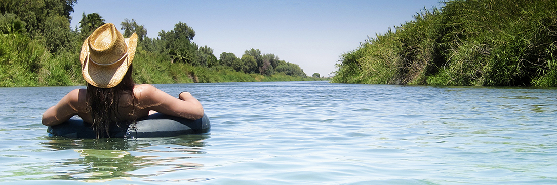 Tubing on the Colorado River in Yuma, Arizona.