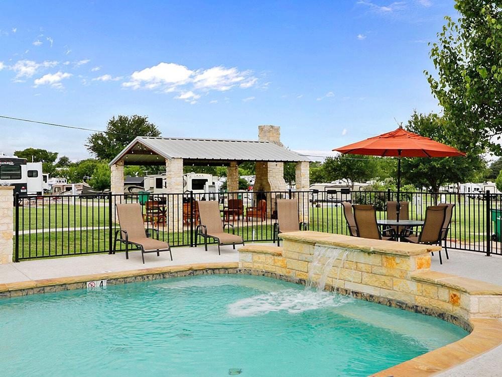 A refreshing pool awaits guests.