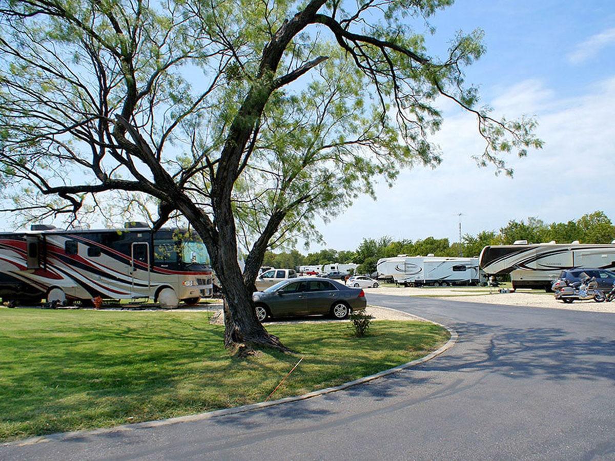 Big spaces at Shady Creek RV Park.