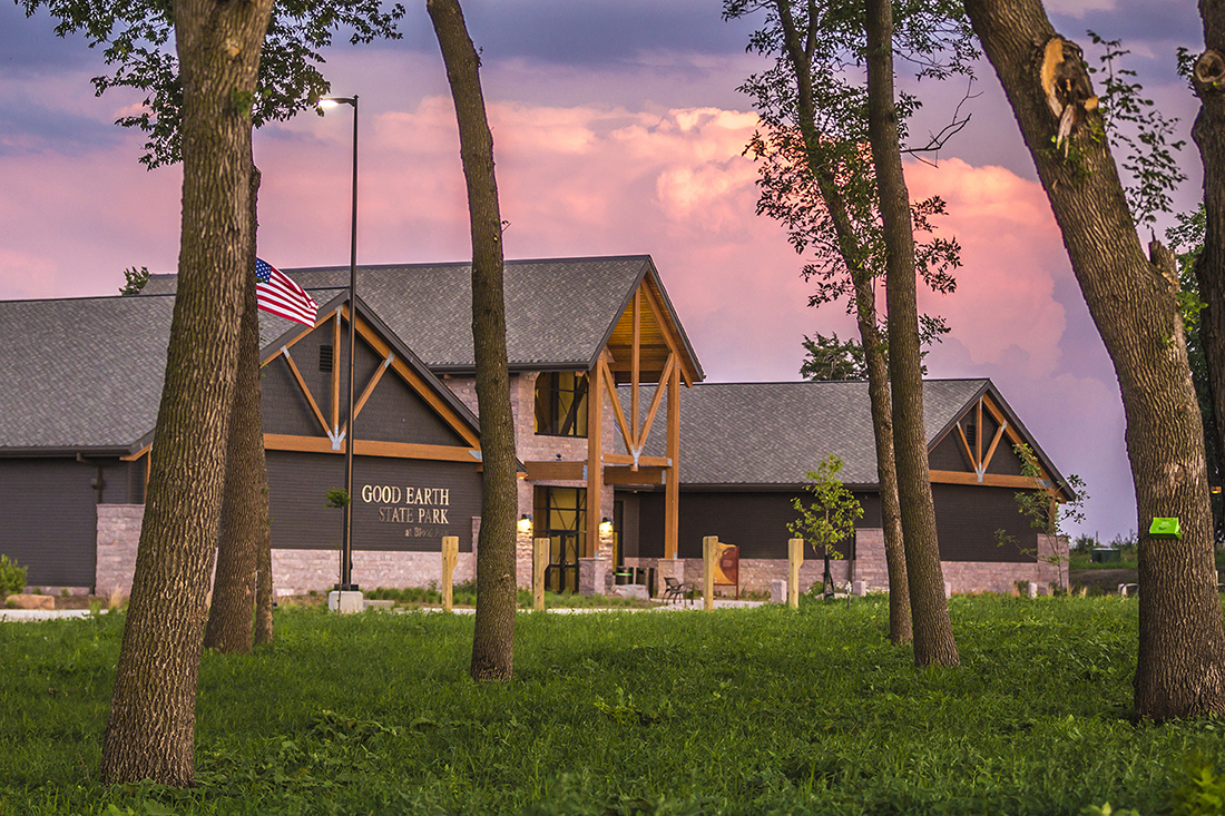 The Good Earth State Park visitor center.