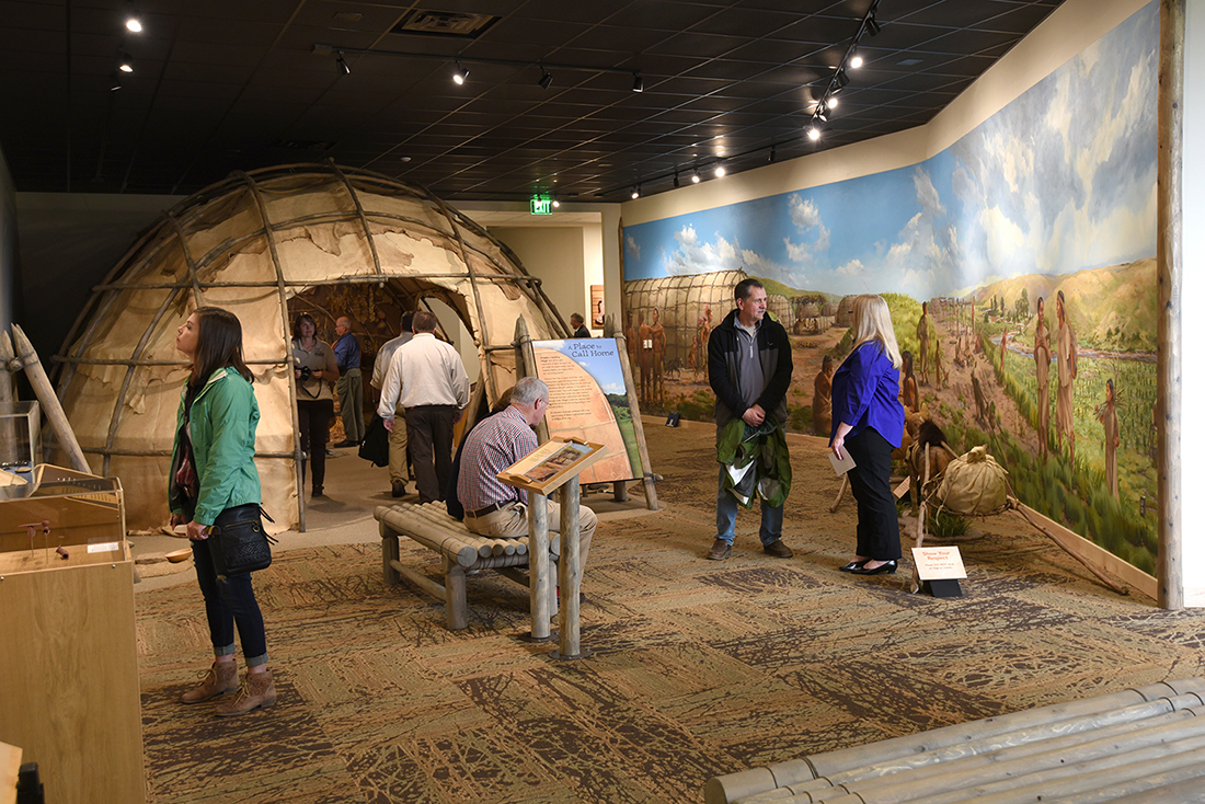 Murals and a shelter shed insight into Native American life.