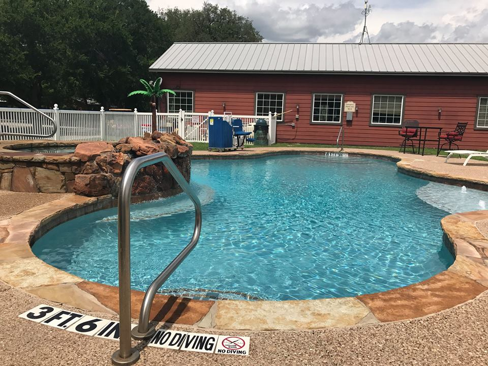 Large outdoor community pool