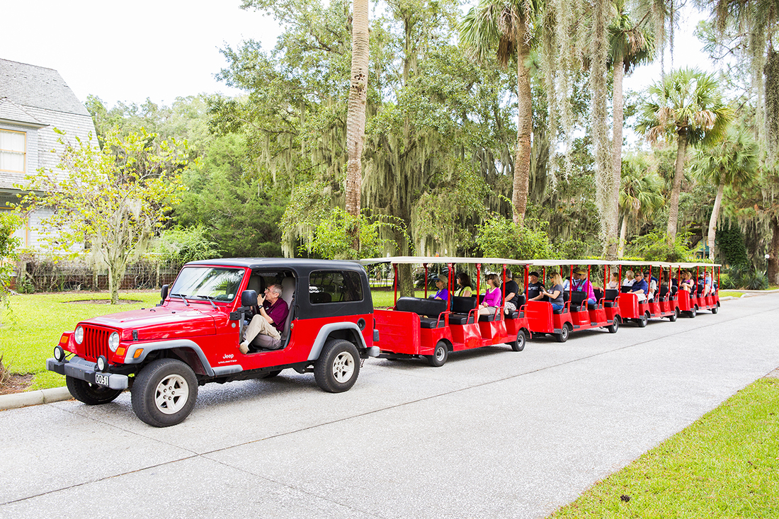 Tram tours introduce visitors to popular spots on Jekyll Island.