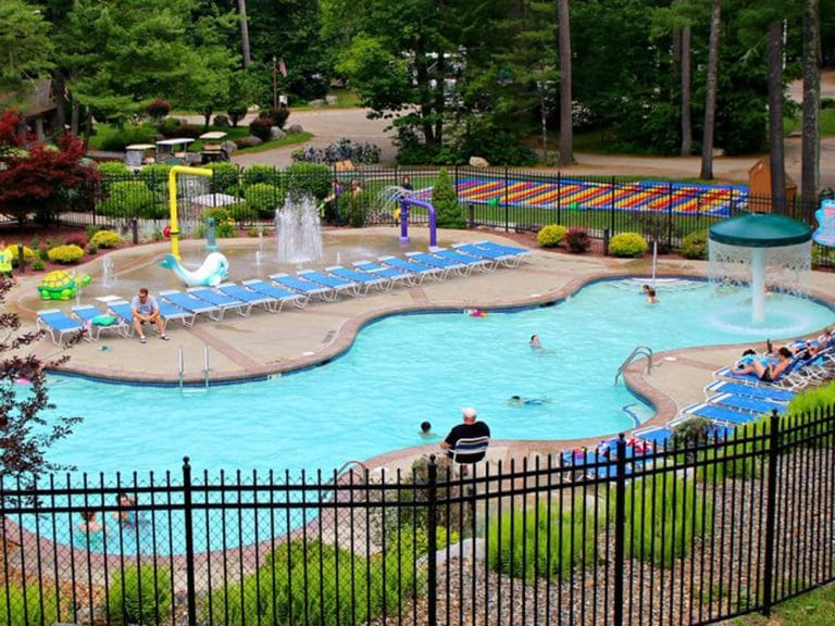Large family community pool
