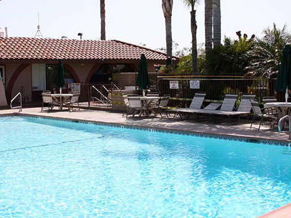 A swimming pool at Orangeland RV Park