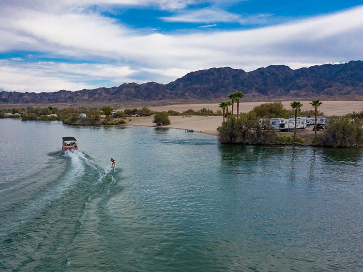 Waterskiing on the Colorado.