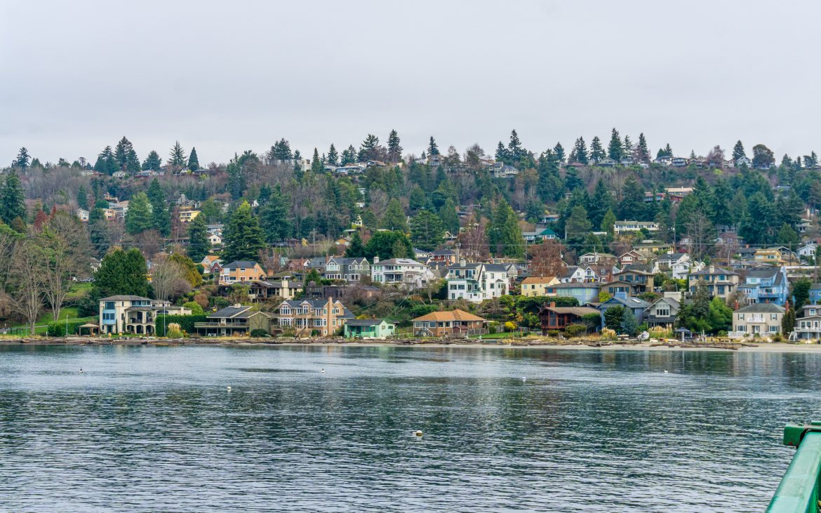 A view of home along the shore on Vashon Island in Washington State.