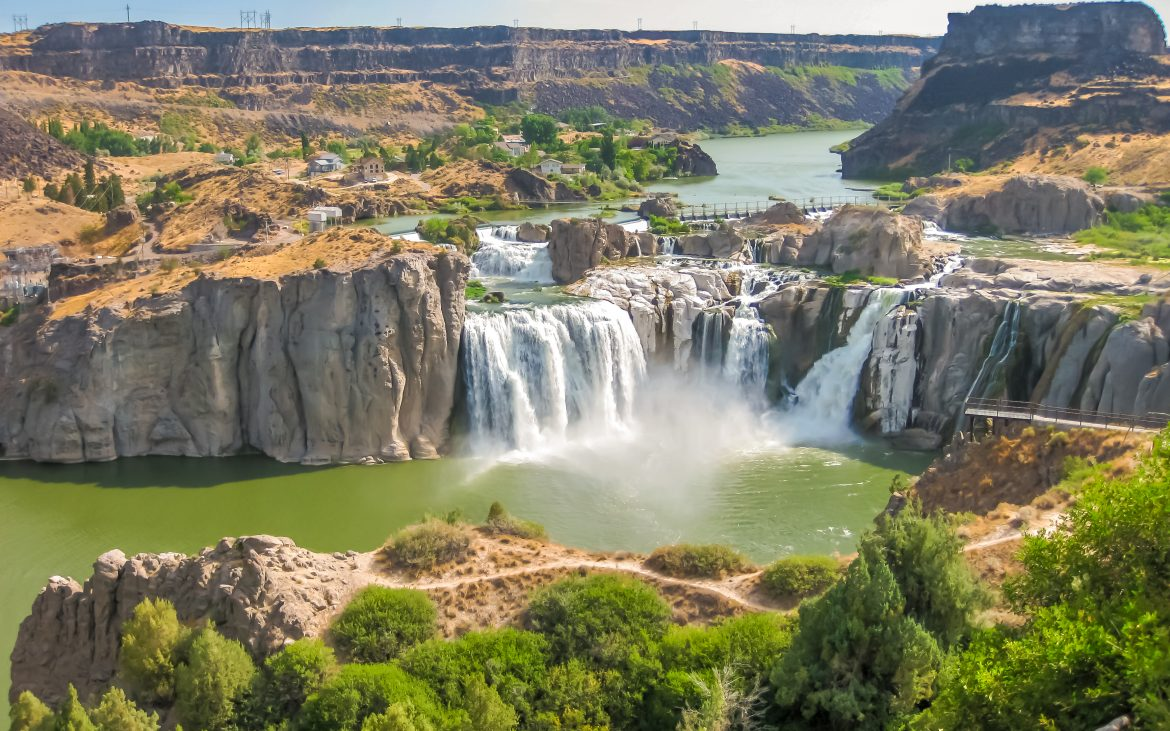 Spectacular aerial view of Shoshone Falls or Niagara of the West, Snake River, Idaho