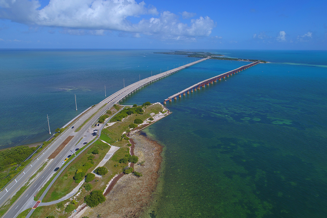 A view of the Overseas Highway from Spanish Harbor Key.