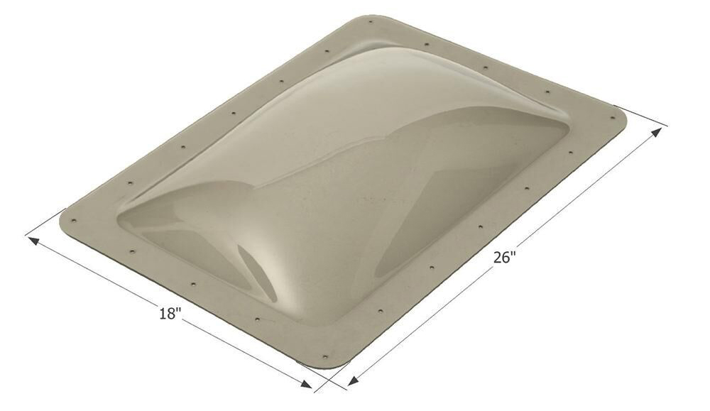 A skylight with measurements indicated.