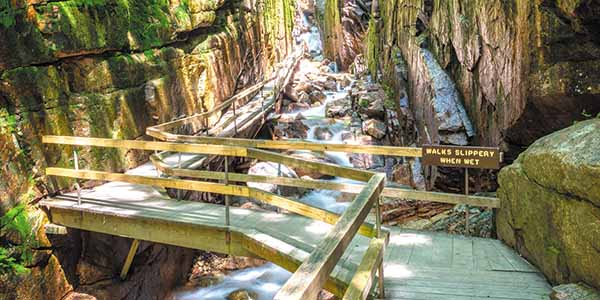 Flume Gorge in Franconia Notch State Park, New Hampshire