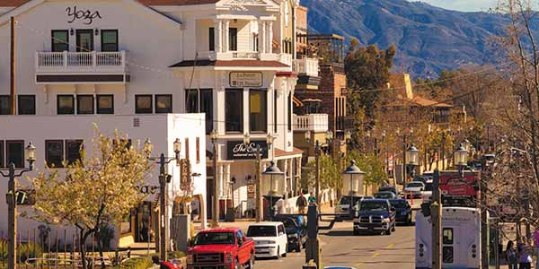 The storefronts of Old Town Temecula evoke the Wild West spirit