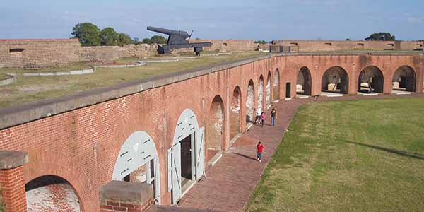During the Civil War, Confederate forces held Fort Pulaski until their surrender in 1862.
