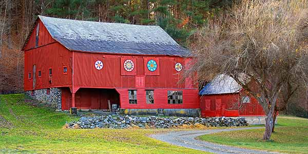 A big red barn