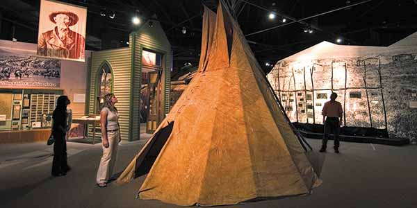 Artifacts and exhibits from the Lakota people are on display at the Journey Museum and Learning Center.