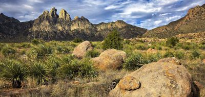 Rugged desert landscape in New Mexico