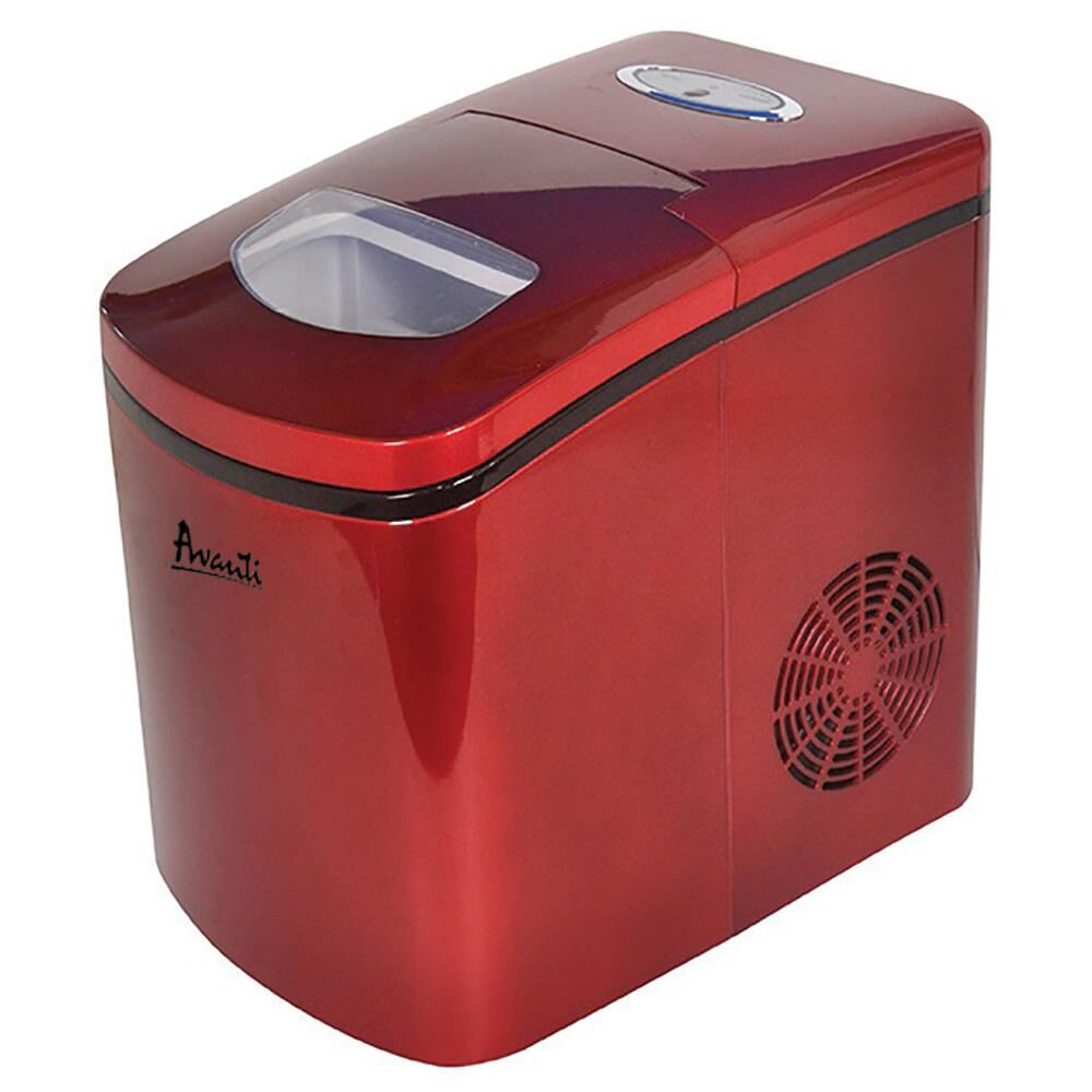 Bright red icemaker in white background<br />