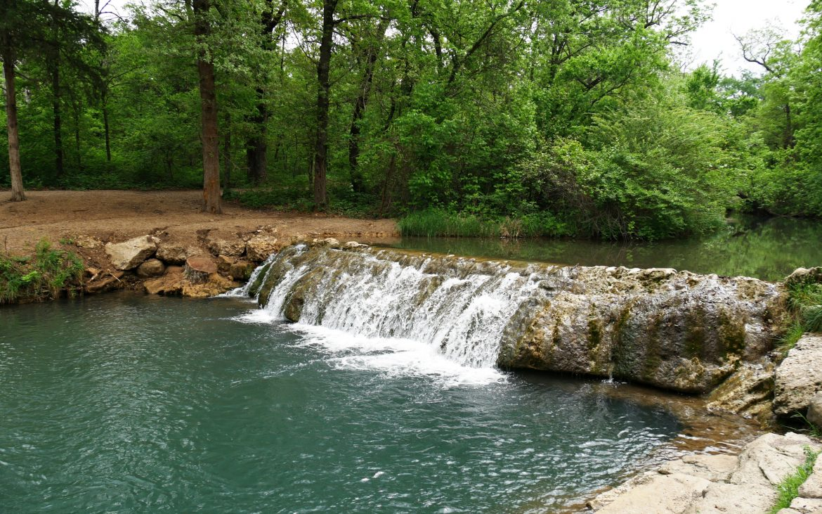 The Little Niagara falls in Chickasaw National Recreation Area in Sulphur