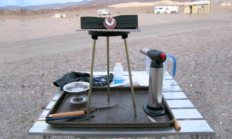Equipment for soldering at an RV park