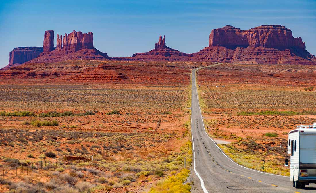 Beautiful epic scenic landscape from monument valley america in AZ