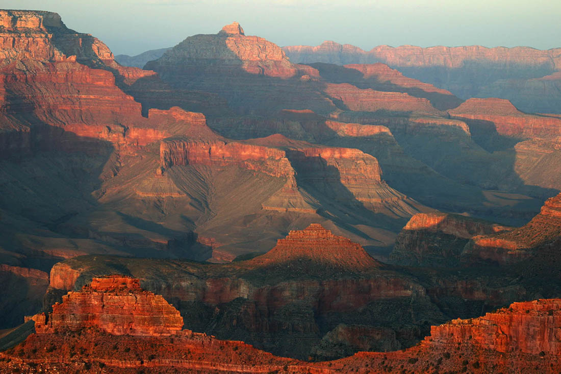 Images of the Grand Canyon in Haze
