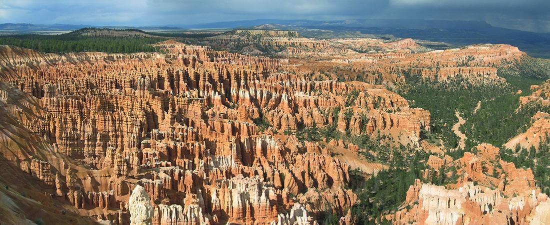 Panorama of Bryce Canyon hoodoos