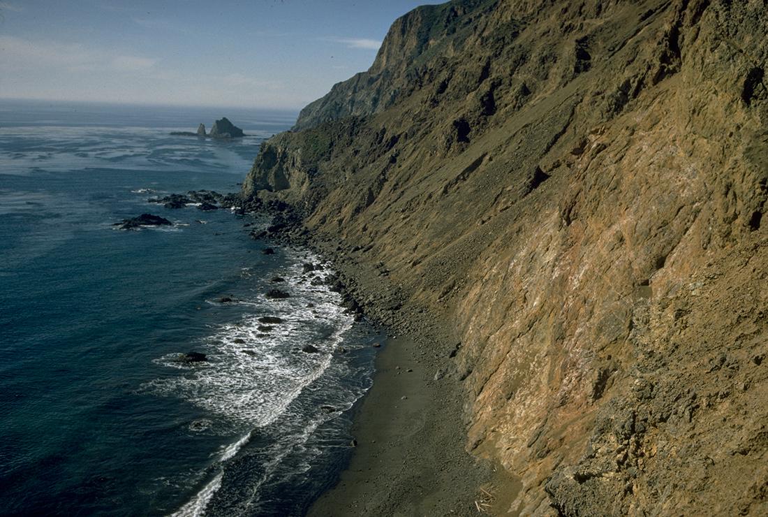 Cliffside on Channel Islands National Park.