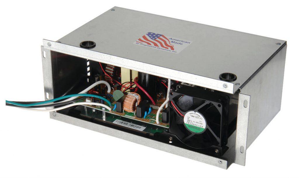 Interior of a Progressive Dynamics charger.