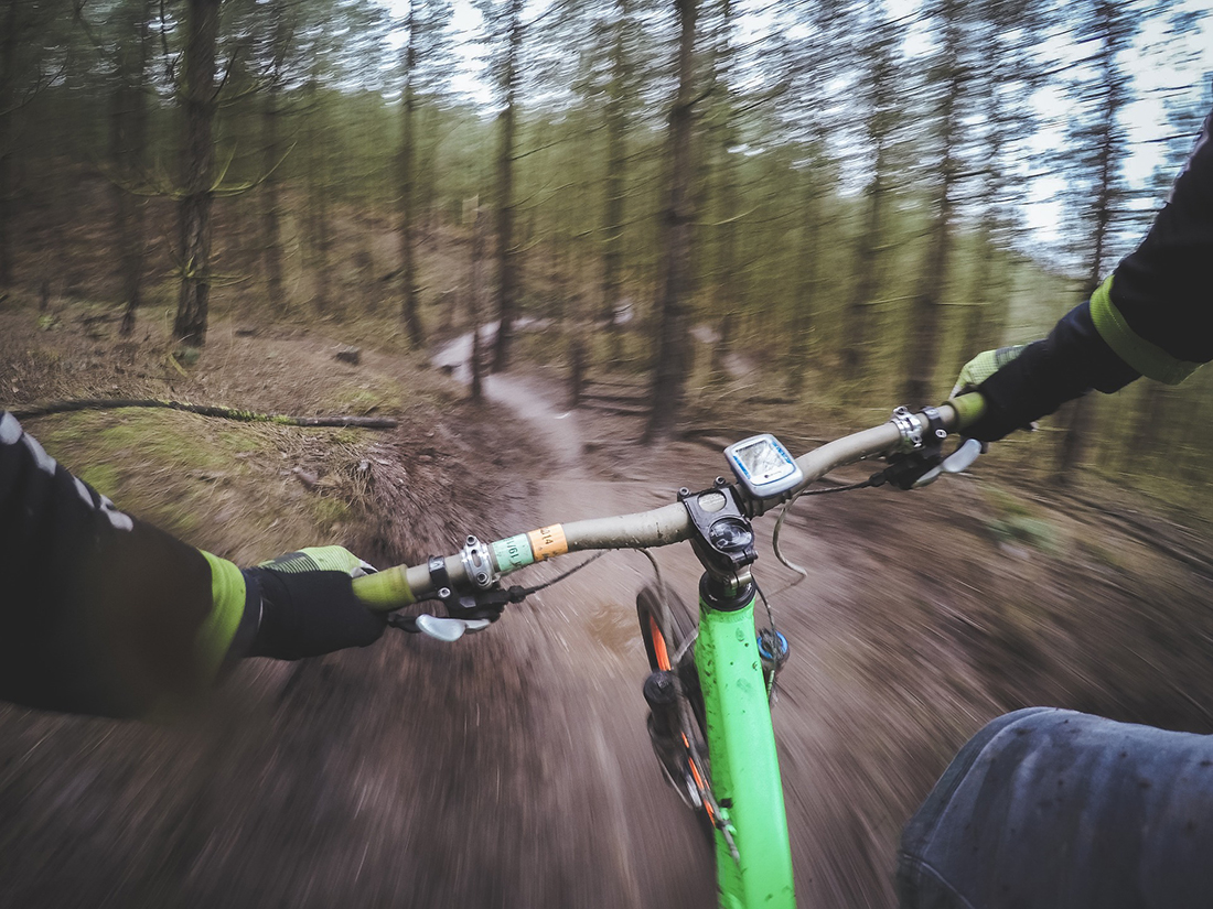 POV From rider Mountain Bike