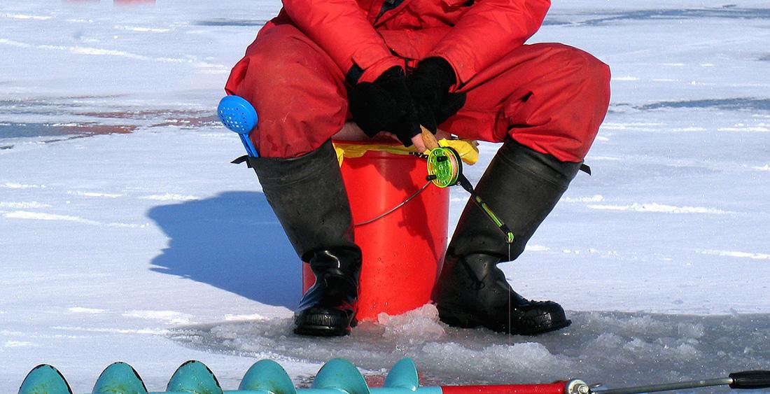 Shorter rod used for ice fishing.