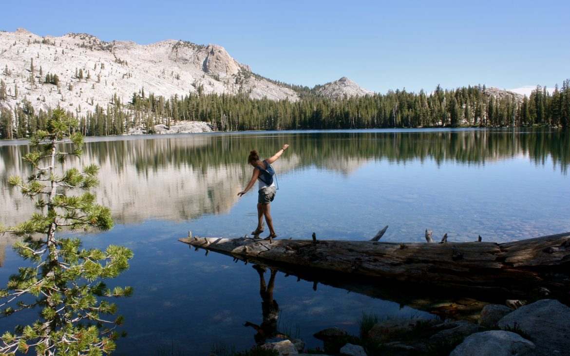 May Lake in the high country of the Sierra Nevada in Yosemite National Park