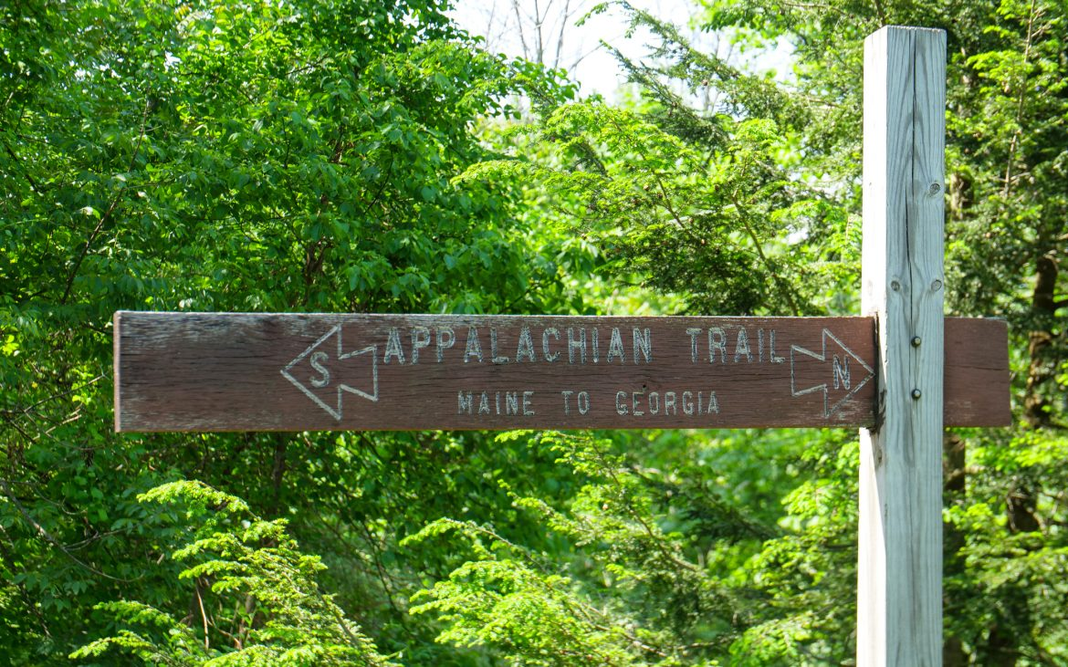 Appalachian Trail Sign Maine to Georgia.