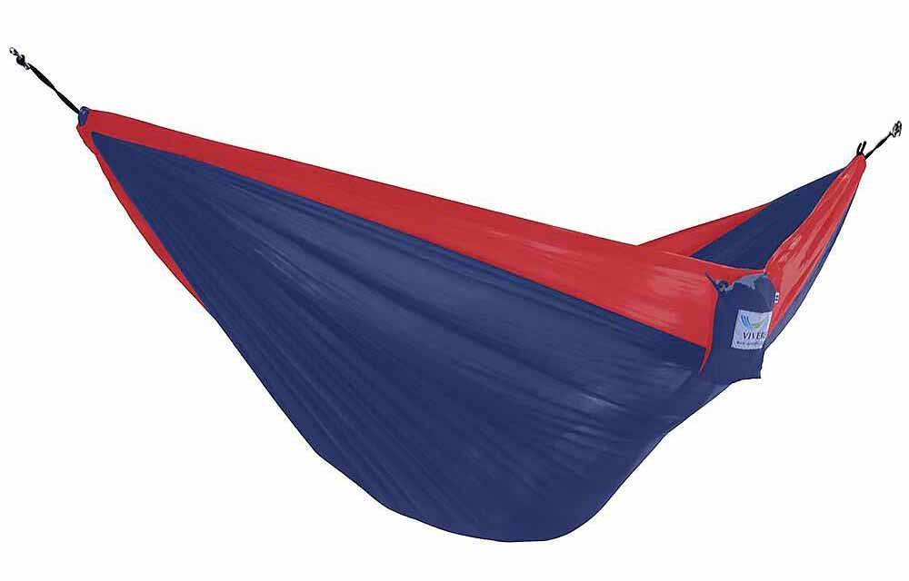Blue and red hammock
