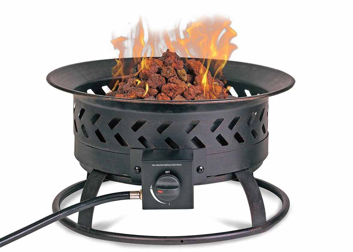 Portable Propane fire pit with cord