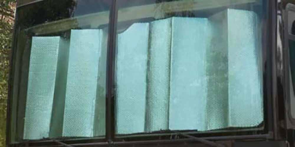 Reflective windshield screen