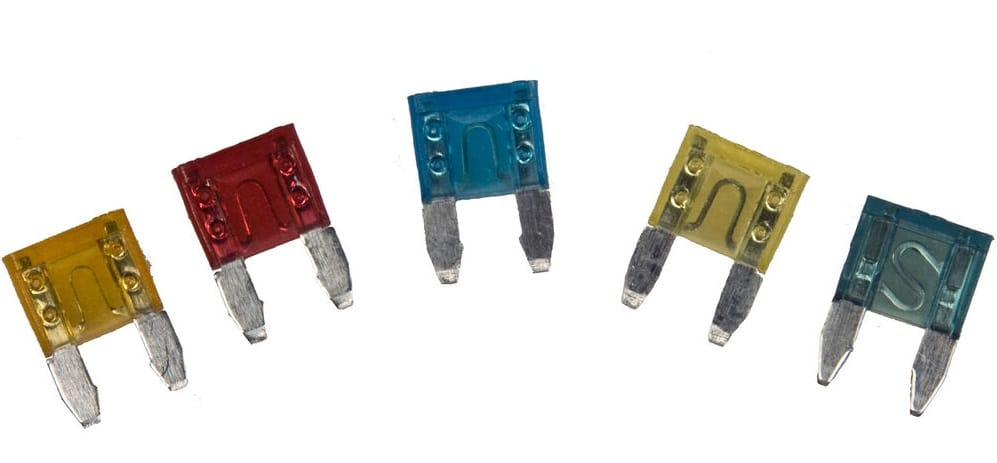 An array of automotive fuses.