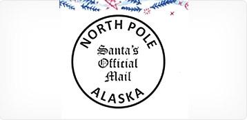 North Pole, Alaska, postmark.